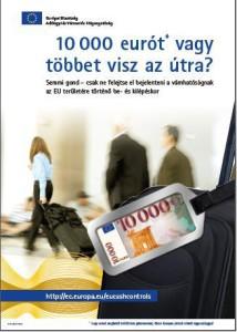 10000 euro készpénz bejelentés